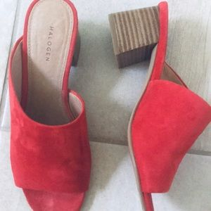 Halogen new worn once 2 in. Suede Mules
